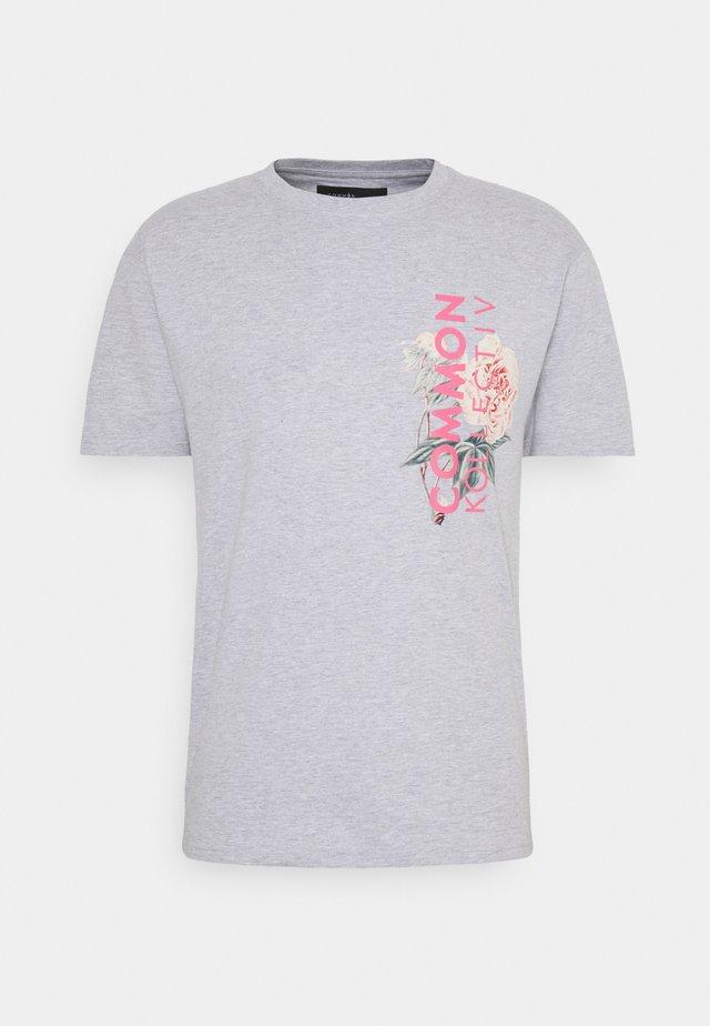 FLORAL UNISEX - T-shirt imprimé - grey marl