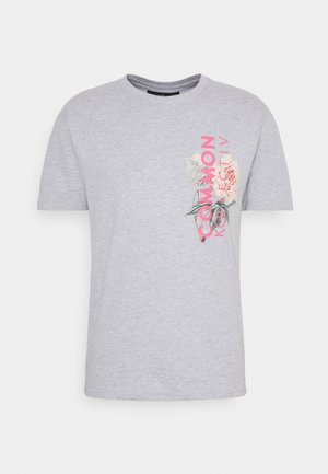 FLORAL UNISEX - Print T-shirt - grey marl