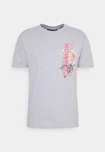 FLORAL UNISEX - Camiseta estampada - grey marl