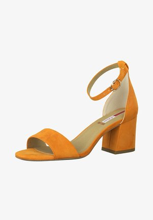 Ankle cuff sandals - orange