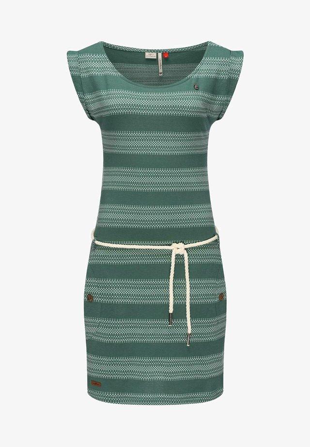 Robe fourreau - dunkelgrün