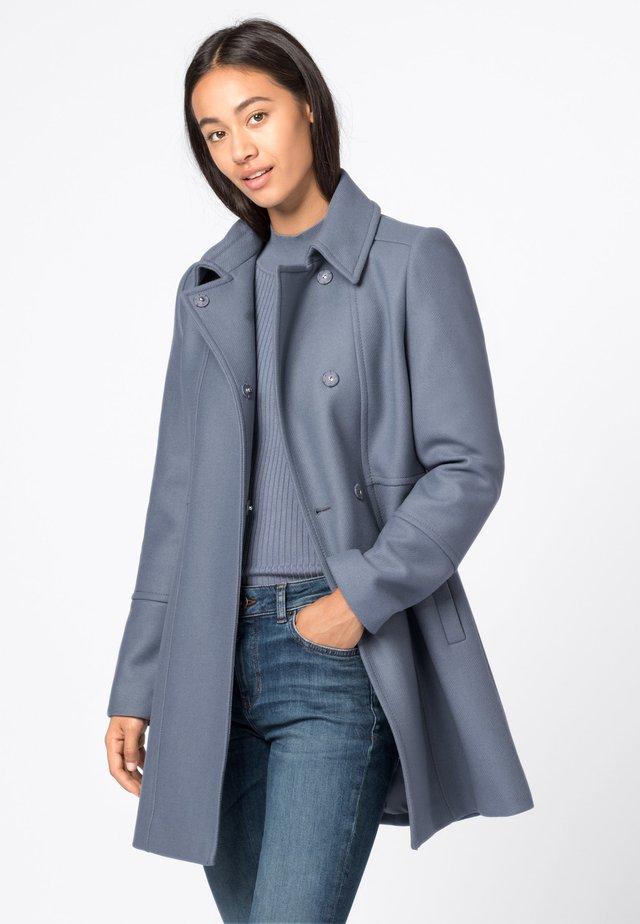 Wollmantel/klassischer Mantel - rauchblau