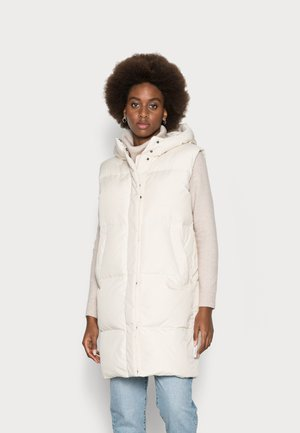 PUFFER LONG REAL FIX WELT POCKETS DRAWSTRING - Smanicato - chalky sand