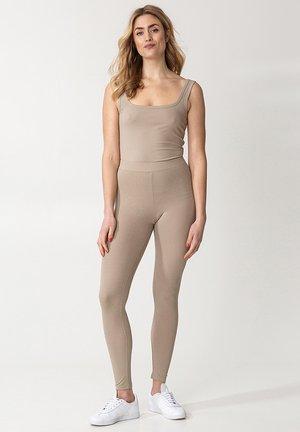 BONNIE RIB - Legging - beige
