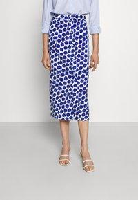 Diane von Furstenberg - CALANDRA SKIRT - Pencil skirt - true blue - 0