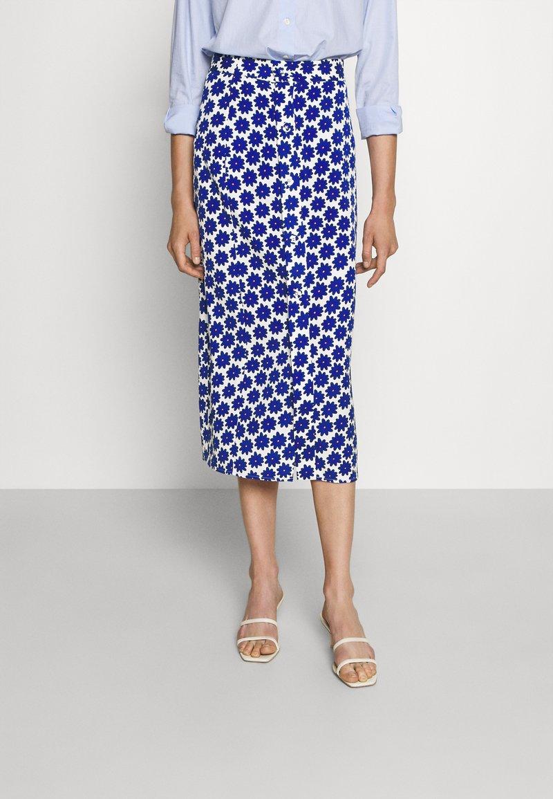 Diane von Furstenberg - CALANDRA SKIRT - Pencil skirt - true blue