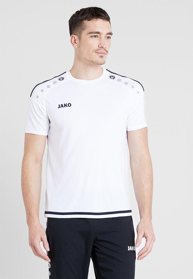 TRIKOT STRIKER 2.0 - T-shirt z nadrukiem - weiß/marine