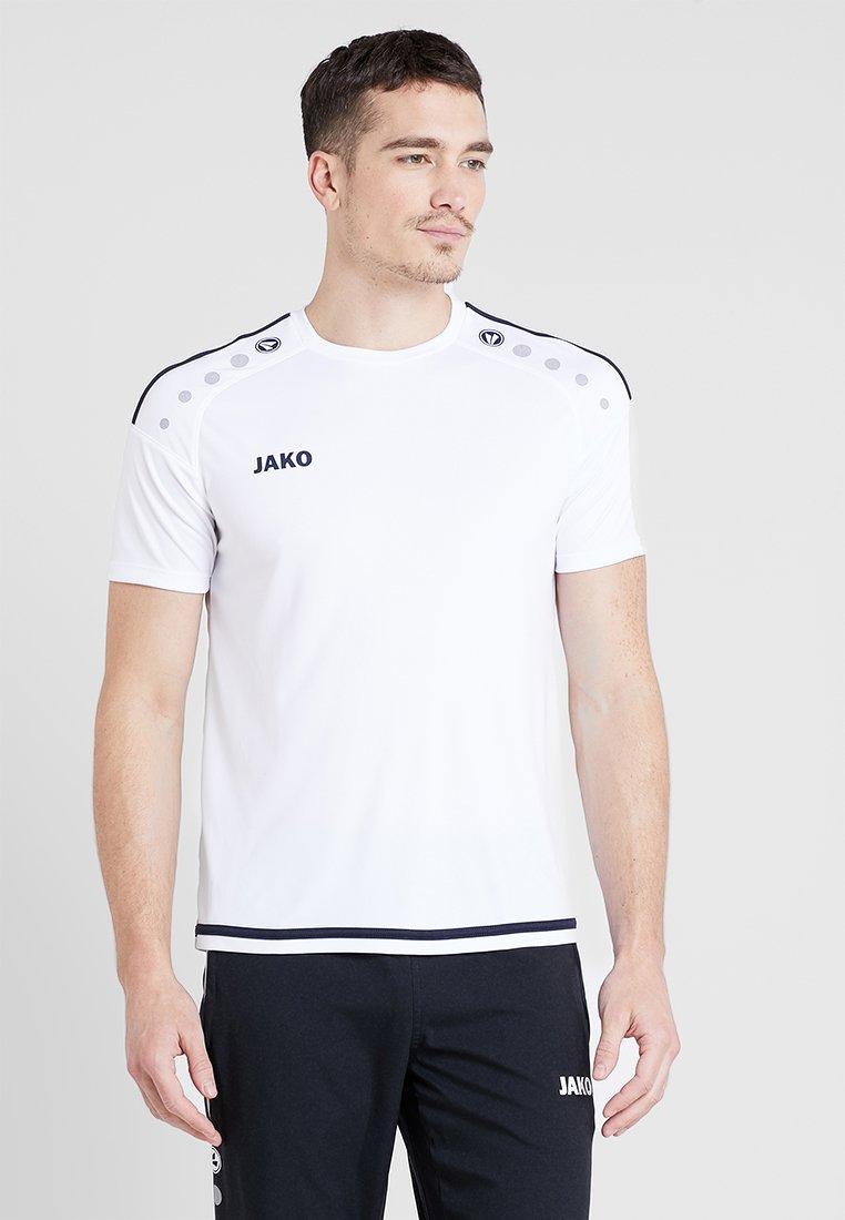JAKO - TRIKOT STRIKER 2.0 - T-shirt print - weiß/marine