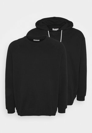 2 PACK - Sweat à capuche - black