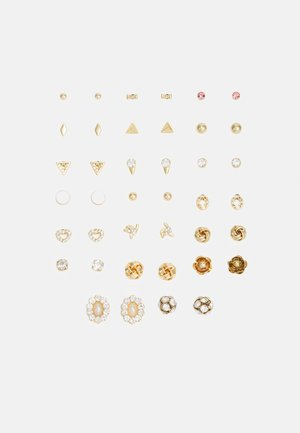 PCALEXSIA EARSTUDS 20 PACK - Øredobber - gold-coloured