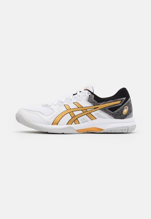GEL-ROCKET 9 - Volleyball shoes - white/pure gold