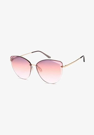 Sunglasses - gestell gold / glas apricot verlauf