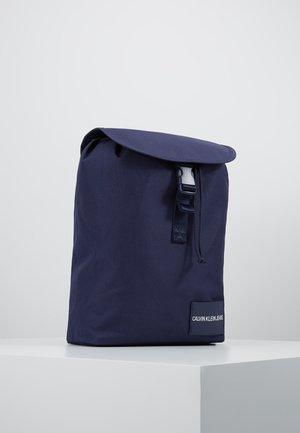 LOGO TAPE FLAP BACKPACK - Rucksack - blue