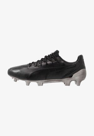 KING PLATINUM FG/AG - Moulded stud football boots - black/white