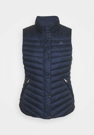 LIGHT GILET - Waistcoat - evening blue