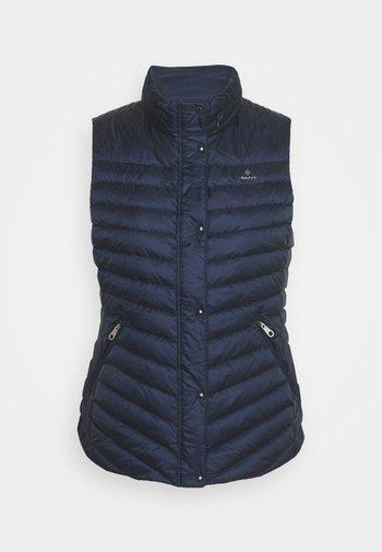 LIGHT GILET - Waistcoat - evening blue