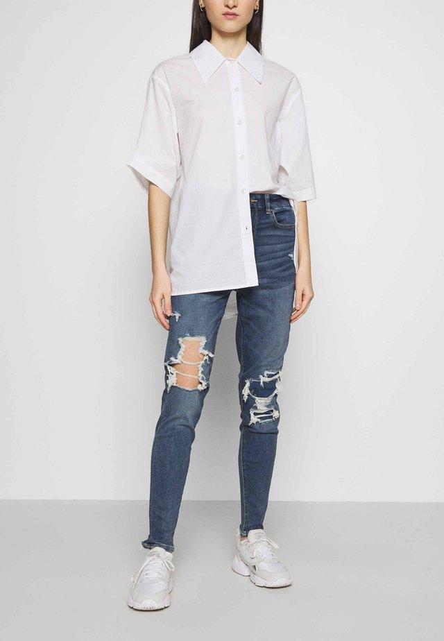 CURVY JEGGING - Jeans Skinny Fit - aged blue traveller