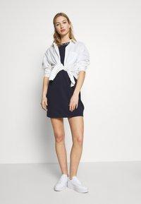Tommy Jeans - BRANDED NECK TEE DRESS - Vestido informal - twilight navy - 1