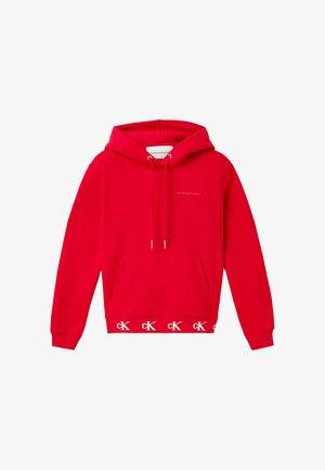 LOGO TRIM HOODIE - Bluza z kapturem - red hot