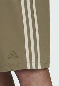 adidas Performance - Swimming shorts - mottled beige/ light blue - 3