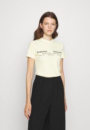 T-shirt print - pale yellow