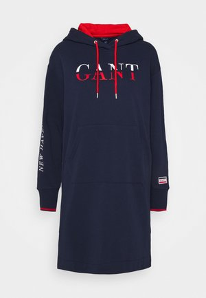 GRAPHIC HOODIE DRESS - Day dress - classic blue