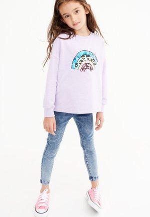 EMBROIDERY RAINBOW - Sweatshirt - lilac