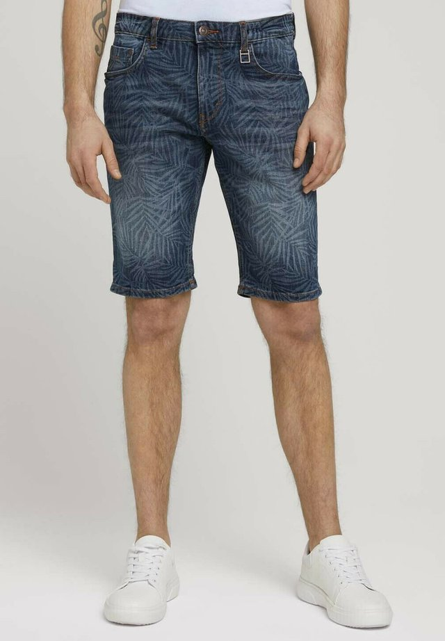 Shorts di jeans - mid blue laser leave denim
