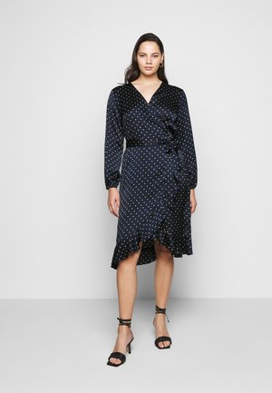 KCHALE WRAP DRESS - Day dress - midnight marine