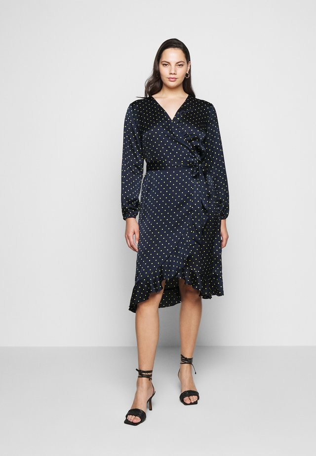 KCHALE WRAP DRESS - Korte jurk - midnight marine