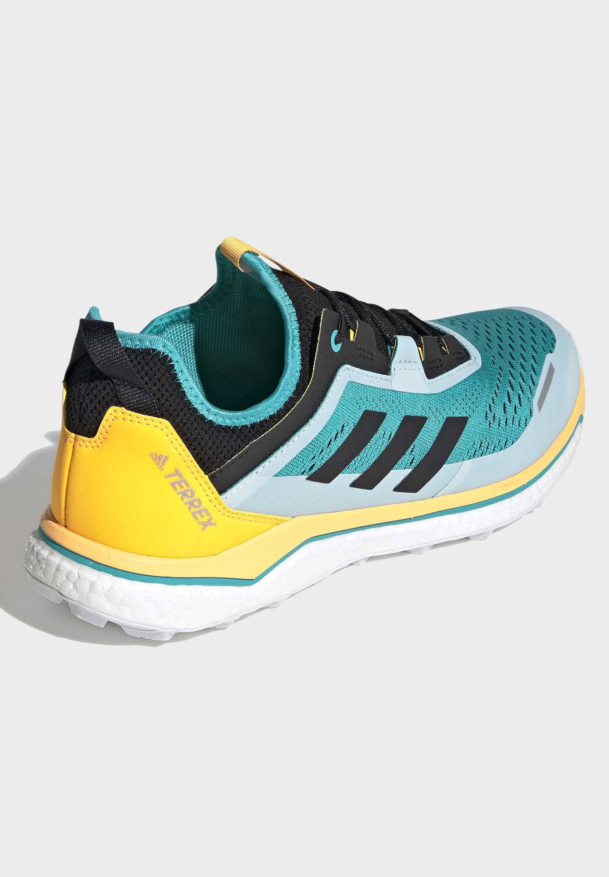 adidas Performance TERREX AGRAVIC FLOW SHOES - Laufschuh Trail - turquoise/türkis - Herrenschuhe zQ2aS