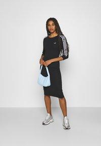 adidas Originals - STRIPES DRESS - Trikoomekko - black - 1