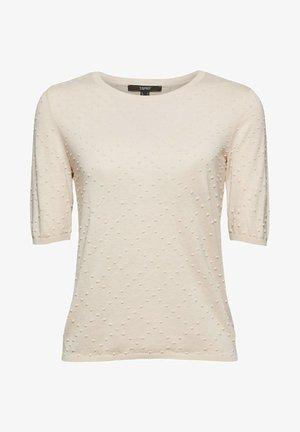 MIT PUNKTE-STRUKTUR - T-shirt basique - cream beige