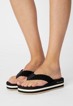 DORA 3D - T-bar sandals - black