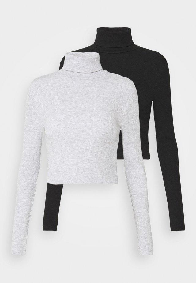 2 PACK - Longsleeve - black/grey