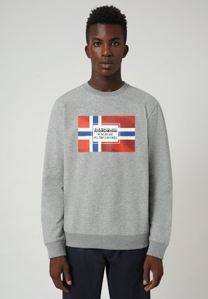 BERA CREW - Sweatshirt - medium grey melange