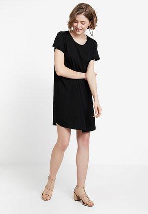 TINA DRESS - Jersey dress - black
