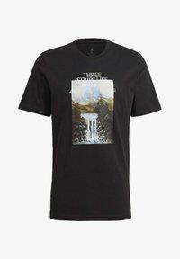 adidas Performance - MOUNTAIN TEE M - Print T-shirt - black - 4