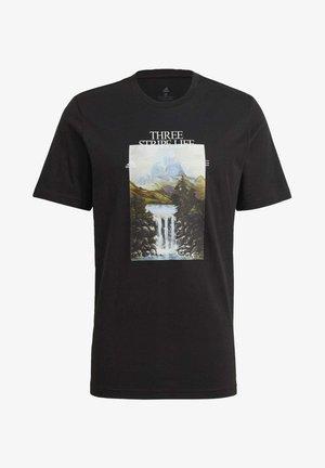 MOUNTAIN TEE M - Print T-shirt - black