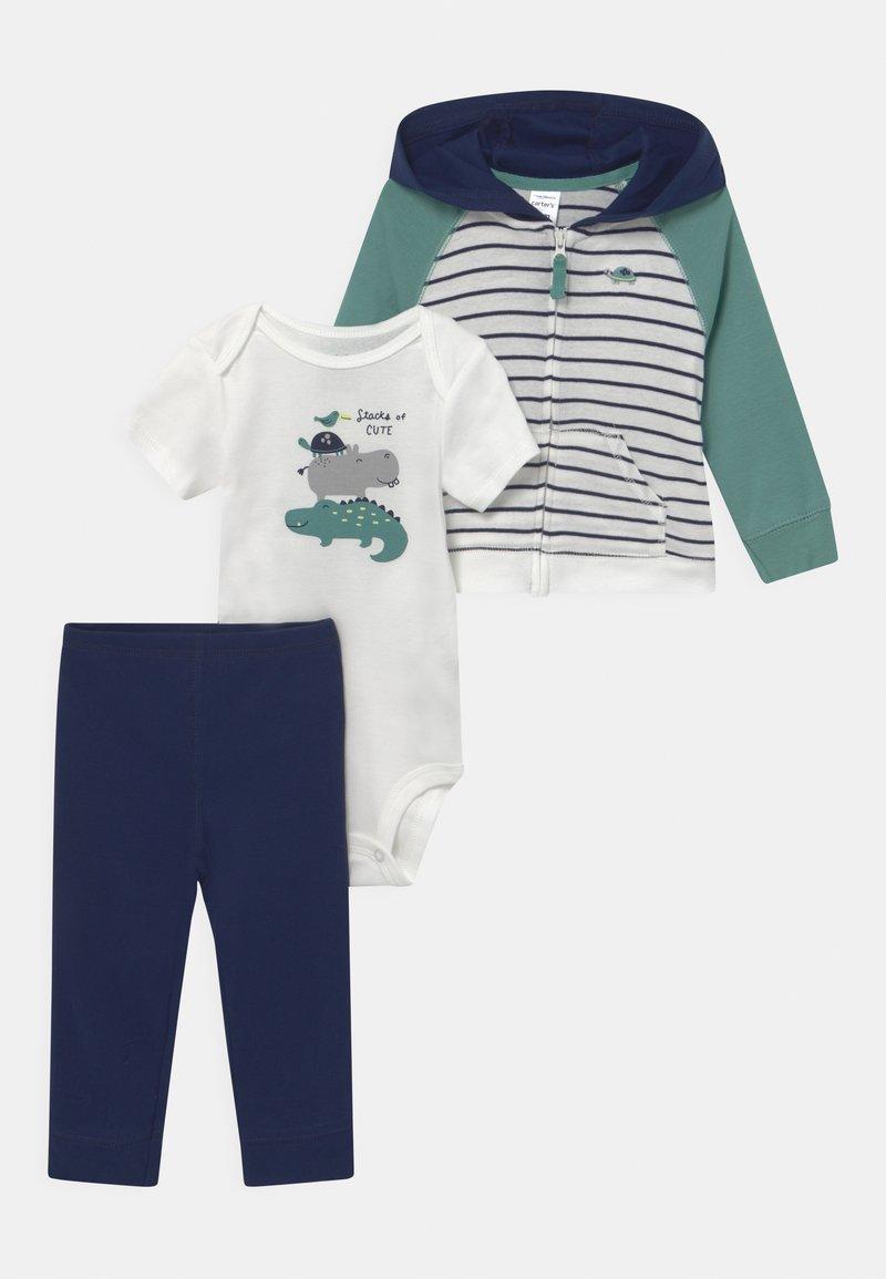 Carter's - STRIPE SET - Print T-shirt - dark blue/green