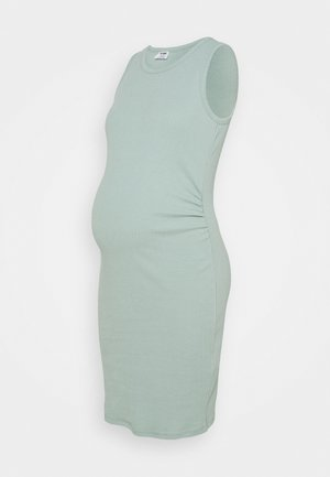 MATERNITY HIGH NECK MIDI DRESS - Vestido ligero - horizon blue