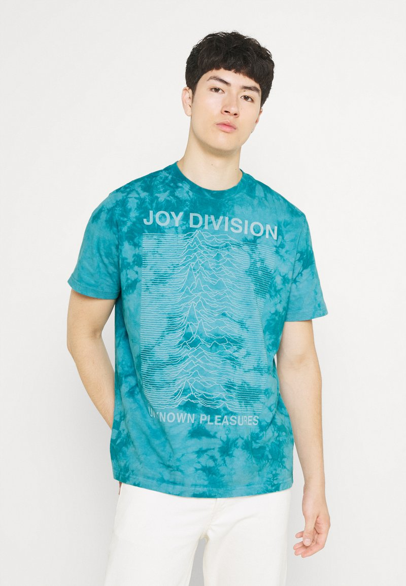 American Eagle - IN TEE MELROSE WASH - T-shirt con stampa - blue