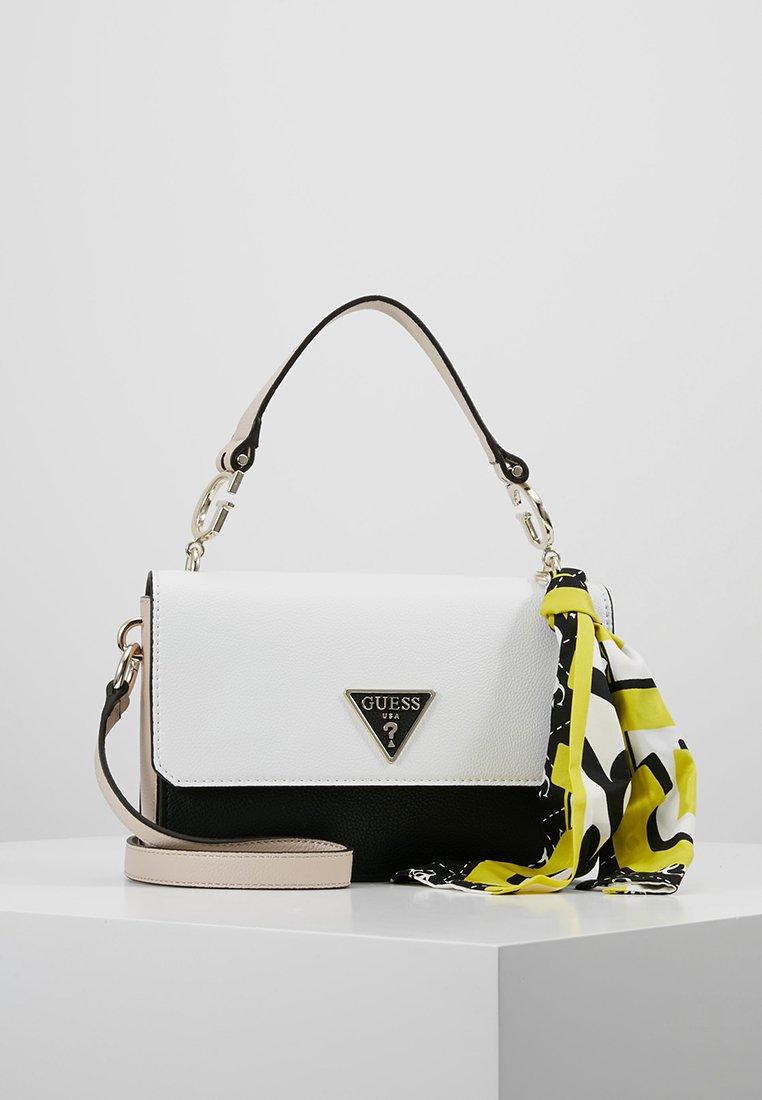 Guess - ANALISE CROSSBODY FLAP - Handbag - white