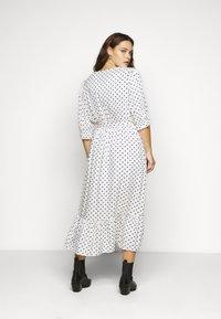 City Chic - DRESS SPOTTY TIER - Shirt dress - white - 2