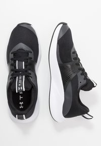 Under Armour - CHARGED AURORA - Sportovní boty - black/white - 1