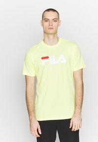 Fila - PURE TEE - Print T-shirt - limelight - 0