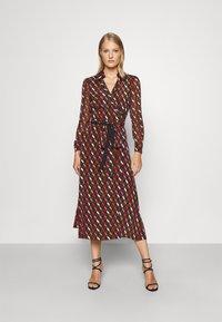Diane von Furstenberg - BROOKE DRESS - Cocktail dress / Party dress - wood brown - 0