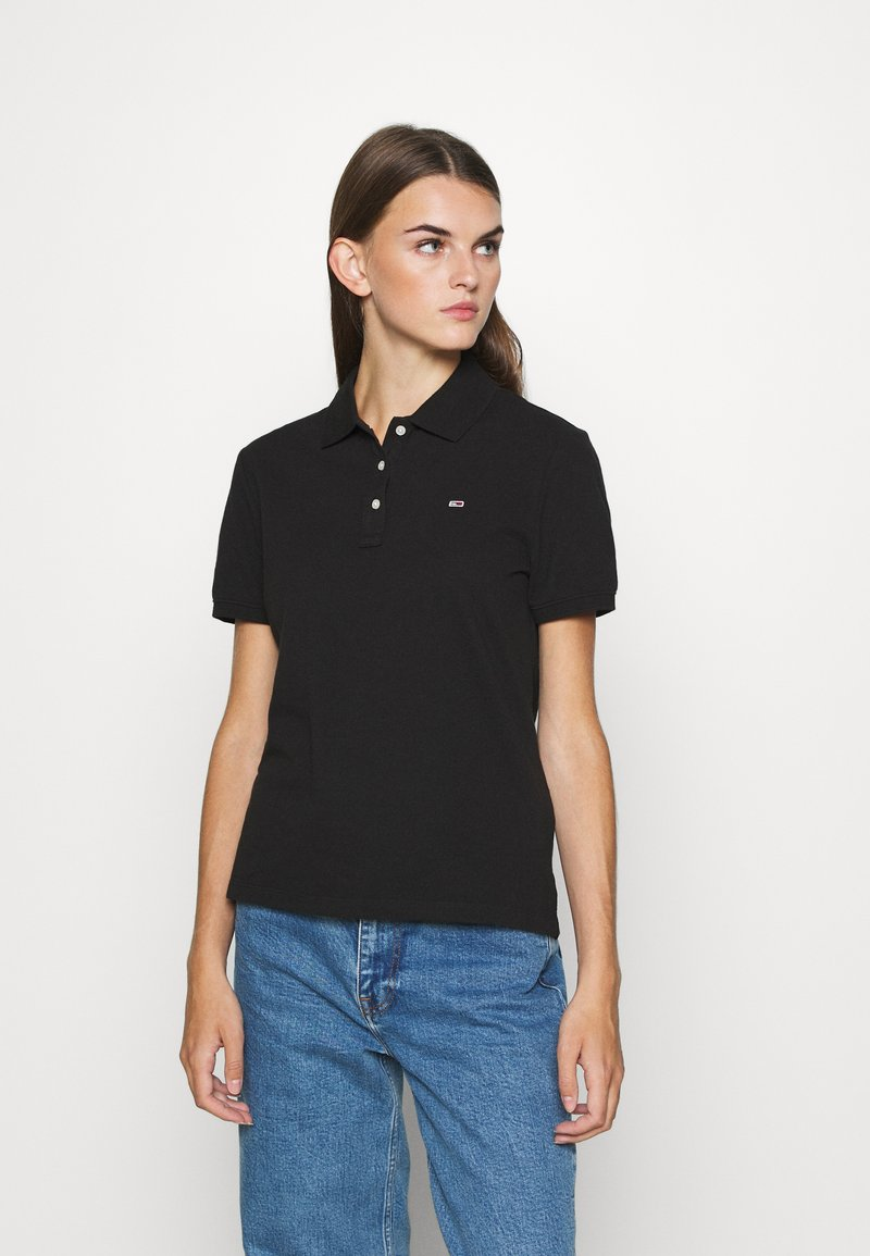 Tommy Jeans - Polo shirt - black