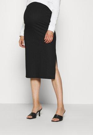 SKIRT CRINCLE - Falda de tubo - black