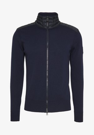 KELBY ZIP CARDIGAN - Gilet - washed navy